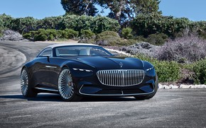 Picture road, Concept, Mercedes-Benz, The concept, Cabriolet, electric, Vision Mercedes-Maybach 6