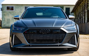 Picture Audi, Muscle, Front, Gray, Before, RS6