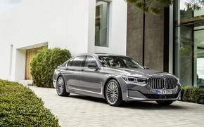 Picture house, BMW, sedan, 750Li, four-door, G12, G11, 7, 7-series, 2019, gray-silver