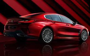 Picture red, Shine, bmw, red, coupe, crimson, gran, scarlet, shine, edition, crimson, collectors, 8 series, 2021