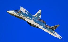 "Picture fighter, flight, multifunction, T-50, ""PAK FA"", Su-57, Su-57"