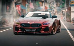 Picture Auto, BMW, Machine, Art, Concept Art, The front, BMW Z4, Transport & Vehicles, by JREEL, …