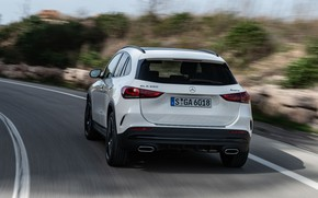 Picture Mercedes-Benz, speed, rear view, crossover, GLA, 4MATIC, GLA-Class, 2020, AMG Line, GLA 250