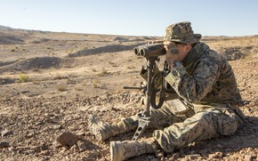 Picture military, firearms, binoculars, monitoring