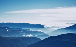 Picture Nature, Clouds, Sky, Mountain, Wallpaper