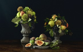 Wallpaper apples, fruit, pear, chestnuts, figs