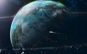 Picture Planet, Space, Space, Planet, Asteroids, Spaceship, Spaceship, Asteroids, Asteroid, Asteroid, by Dan Temirov, Dan Temirov, …