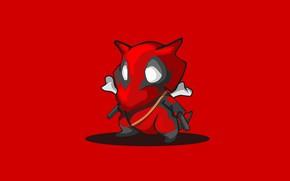 Picture red, background, minimalism, Pokemon, Pokemon