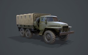 Picture Russia, Ural-375Д, Army truck