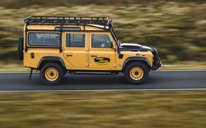 Picture road, SUV, Land Rover, side view, Defender, V8, 5.0 L., 2021, Works V8 Trophy, 405 …