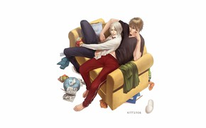 Picture sofa, white background, guys, once, 19 days, 19 Days, Jian And, Zhang Jinsi