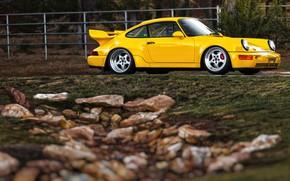 Picture Auto, Yellow, 911, Porsche, Machine, Porsche 911, Carrera, RSR, 1993, Porsche 911 Carrera, 911 Carrera …