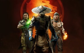 Picture trio, men, Mortal Kombat, Mortal Kombat 11