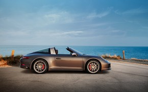 Picture shore, Porsche, 4x4, Biturbo, Targa, special model, 911 Targa 4 GTS, Exclusive Manufaktur Edition