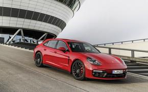 Picture red, Porsche, Panamera, universal, 2021, Panamera GTS Sport Turismo