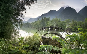 Picture Water, Nature, Mountains, River, Wheel, Vietnam