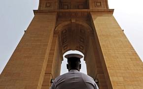 Picture arch, memorial, Delhi, sailor, India Gate