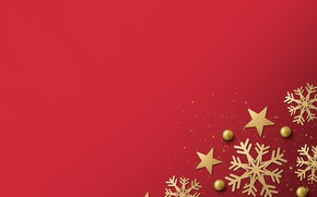 Picture winter, snowflakes, red, background, red, golden, black, Christmas, winter, background, snowflakes