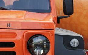 Picture orange, lights, the hood, SUV, grille, 2011, 4x4, Travec, Tecdrah Integrale 1.5 TTi, Renault/Dacia Duster, …