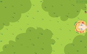 Picture simple, green, kawaii, music, girl, field, nature, anime, art, minimalistic, sweet, cute, kawai, rioeatsrice