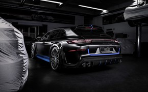 Picture Porsche, Panamera, rear view, 2018, TechArt, Sport Turismo, Grand GT, Selective