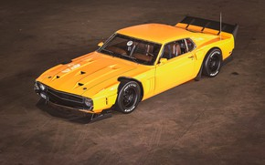 Picture Ford, Shelby, GT500, Auto, Yellow, Retro, Machine, Orange, 1969, Car, Render, Muscle car, Shelby Mustang, …