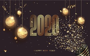 Picture holiday, balls, new year, postcard, celebration, 2020, happy-new-year