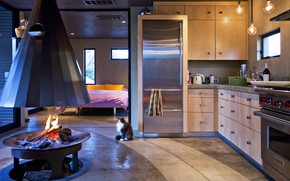 Picture interior, kitchen, fireplace, bedroom, by Miller Design, Anderson Pavilion