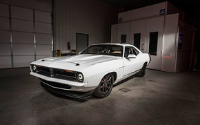 Picture White, Muscle car, Custom, Vehicle, Plymouth Barracuda