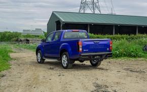 Picture blue, pickup, ass, Isuzu, D-Max, 2019