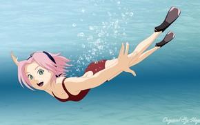 Picture sea, Sakura, Naruto