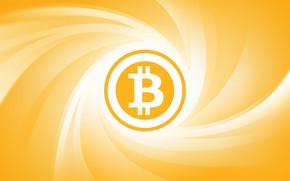 Picture yellow, logo, currency, fon, bitcoin, bitcoin