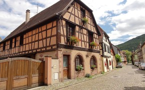 Picture the city, street, France, France, Alsace, Kayserberg