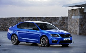 Picture auto, blue, Skoda, Octavia