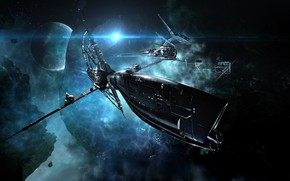 Picture nebula, planet, asteroids, Space, space, spaceship, eve online, space ship, coooper