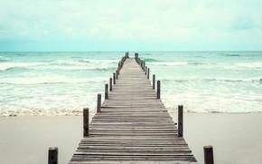 Picture sand, sea, wave, beach, summer, pierce, summer, beach, sea, blue, seascape, sand, wave