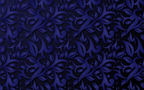 Picture abstraction, pattern, Blue, ornament