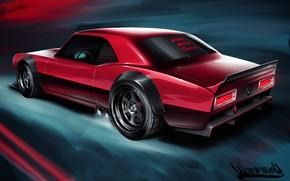 Picture Auto, Figure, Chevrolet, Machine, Camaro, Art, Chevrolet Camaro, 1968, Vehicles, Transport, Transport & Vehicles, Andreas ...