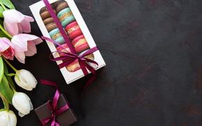 Picture background, box, bouquet, cookies, cuts, Olena Rudo