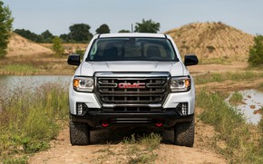 Picture front view, pickup, GMC, Crew Cab, Canyon, AT4, 2020, 2021, Off-Road Performance Edition