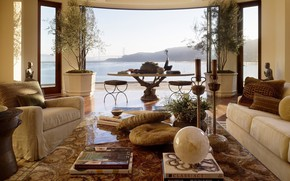 Picture design, style, interior, San Francisco, living room, Suite, dining room