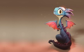 Picture wings, baby, fantasy, dragon, children's, dragon, lil' dragon, Emilio Jose Dominguez Calvo