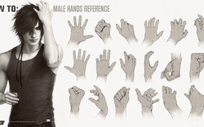 Picture hands, guy, handsome