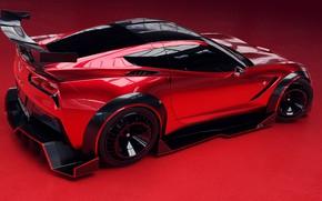 Picture Red, Auto, Corvette, Machine, Car, Rendering, Stingray, Corvette Stingray, Sports car, Transport & Vehicles, Chevrolet …