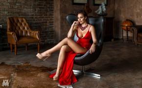 Wallpaper dress, model, pretty, Gerasimov Mikhail