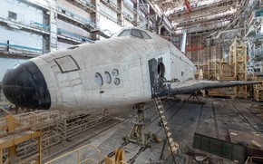Picture Buran, shuttle, Abandoned, baikonour