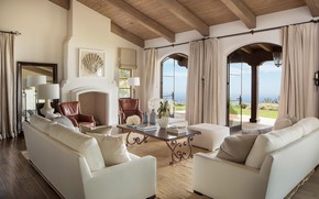 Picture design, style, Villa, interior, fireplace, living room