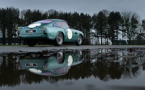 Picture Aston Martin, Reflection, Classic, 2018, Classic car, 1958, DB4, Sports car, Aston Martin DB4 GT …