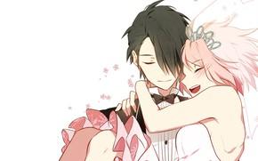 Picture romance, anime, art, pair, two, Naruto, wedding, Sasuke Uchiha, Sakura Haruno