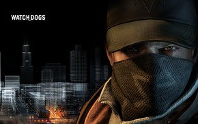 Picture look, mask, jacket, guy, Watch Dogs
